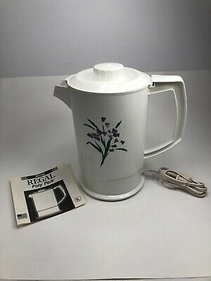 Regal Poly Perk Electric Coffee Maker PERCOLATOR 4-8 Cup Pot Vintage Tested