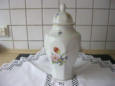 Deckel Vase Lindner W-Germany Handarbeit