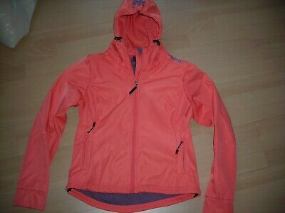 bench fleece softshell jacke orange
