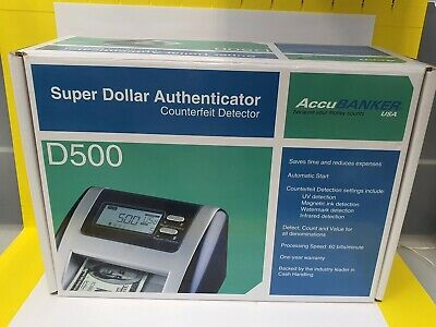 ACCUBANKER D500 Super Dollar Authenticator US DOLLAR ONLY Used!!!