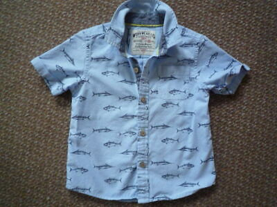 Marks & Spencer boys shirt. Age 3 - 4 years.  Cotton. Pale blue