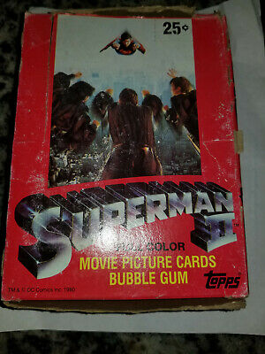 1980 Topps Superman 2 Movie Card Box Full With 36 Packs