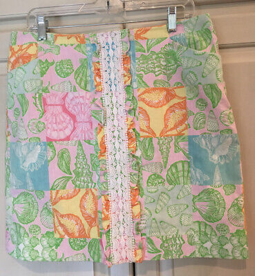 Lilly Pulitzer Skirt Size 14 Shell Print