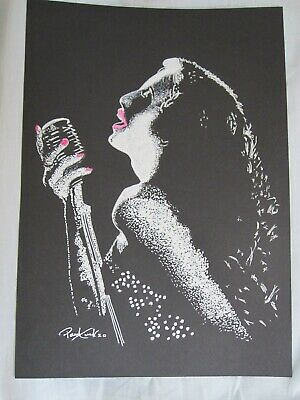 Jazz Singer Original Art Drawing work By Paul Tuck Picture Big Band Film Noir