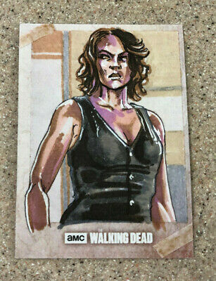 Topps The Walking Dead Evolution Maggie Artist Sketch Card By Jason Kimble