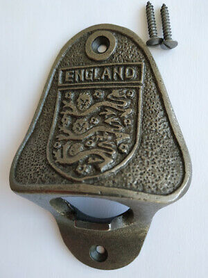ENGLAND Cast Iron Wall Mounted   Beer Bar bottle opener  ( High Quality )