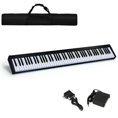 88 Key Digital Piano MIDI Keyboard w/ Pedal and Bag Music Instrument Home NEW