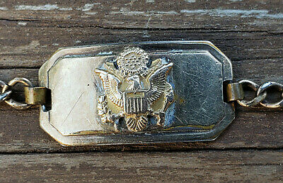 WWII US Army Sweetheart Bracelet Gold & Named