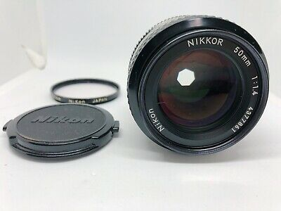 [Excellent++++] Nikon Ai NIKKOR 50mm F1.4 MF Lens from Japan / Released in 1977~