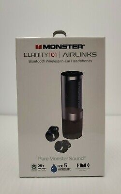 Monster Clarity101 Airlinks Bluetooth Wireless In-Ear Headphones - New & Sealed