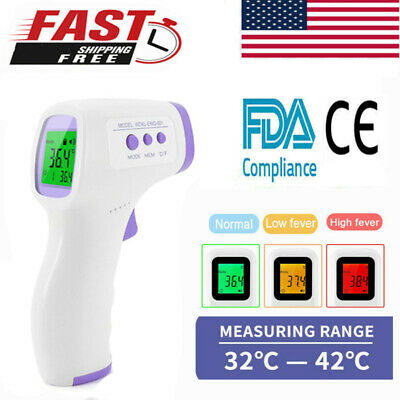 Infrared Digital Forehead Thermometer Touchless Baby Adult Temperature Gun Body#