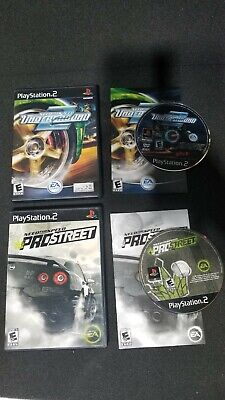 PS2 2x Game Lot - Need For Speed Underground 2 & Prostreet - CIB Tested