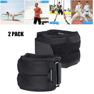 2*Ankle Weights Adjustable Leg Wrist Straps Running Boxing Fitness Training Gym