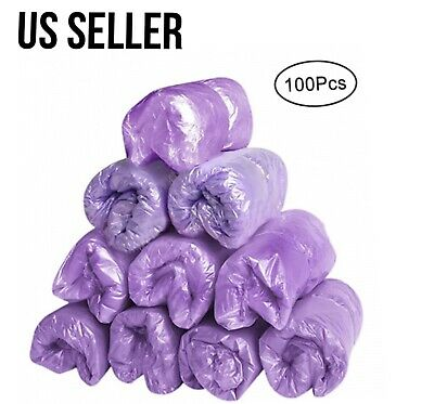 100pc 50 Pairs Plastic Waterproof Dustproof Disposable Shoe Covers PURPLE New