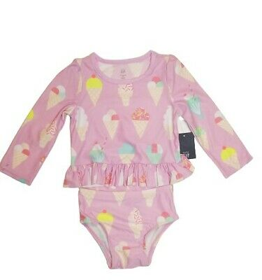 Baby Girls Guppy Ruffle Swim Shirt Sun Protective Coolibar UPF 50