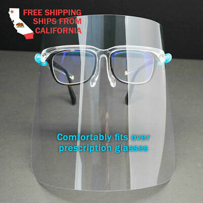 set of 5 Face Shield Full Protection Cover Clear Face Protector Eye Helmet