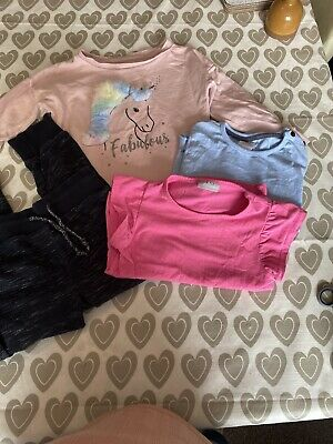 Girls Clothes Bundle Age 6 Years, 4 items inc Jumper,tops+Jogging Bottoms