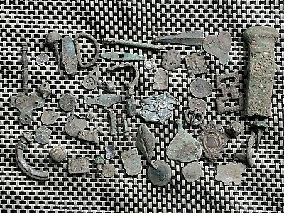 Lot Of 48 Ancient Roman And Byzantine Bronze Artifacts And Fragments