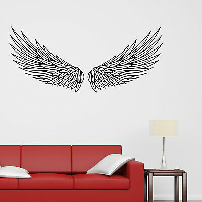 Spread Angelic Angel Spirit Wings Vinyl wall sticker decal art Any Size Colour