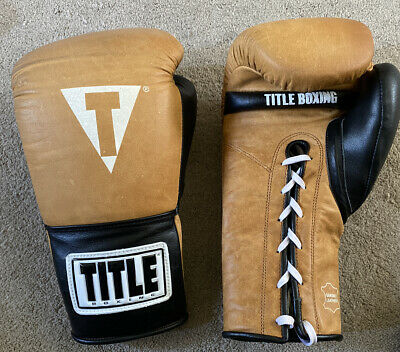 Title Vintage Leather 14 Ounce Boxing Gloves