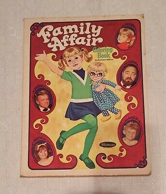 Family Affair Coloring Book by Whitman 1968
