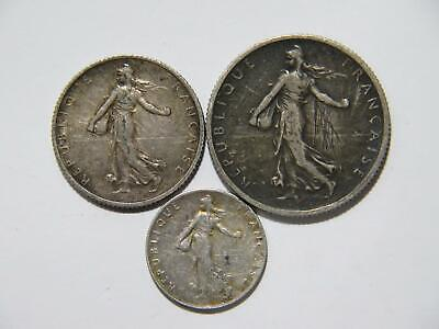 France 1918 2 Francs 1 Franc 50 Centimes Standing Liberty Silver World Coins ⭐🌈