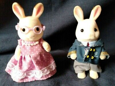 Calico Critters Hopscotch Grandparents Bunny Rabbit Sylvanian Seaside Cruiser