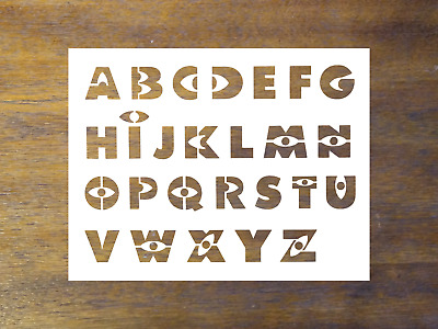 "Harry Potter Font Alphabet Letters  11/"" x 8.5/"" Stencil FAST FREE SHIPPING"