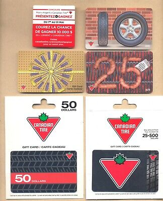 Canadian Tire Lot of 6 different Promotional Items Pinback and Gift Cards