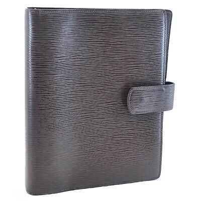 LOUIS VUITTON Epi Leather Agenda GM Day Planner Cover Brown R20213 LV Auth 11240