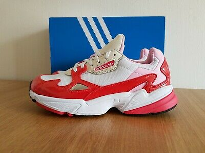 Adidas Originals Womens Girls Falcon Wide Fit Shoes Red/Pink EE3830 UK 5.5