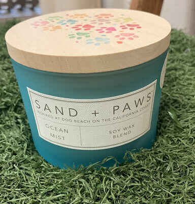Sand + Paws Sand and Fog Soy Wax Candle Guava Mango Scent Neutralizes Pet Odor