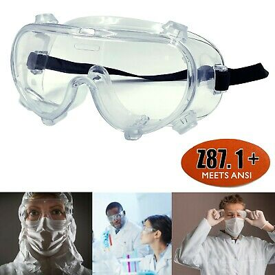 Chemistry Lab Protective Eye Goggles Safety Clear Glasses Medical Use BI1391