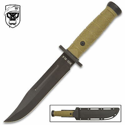"12"" SOA OD TACTICAL BOWIE SURVIVAL HUNTING KNIFE MILITARY Combat Fixed Blade"