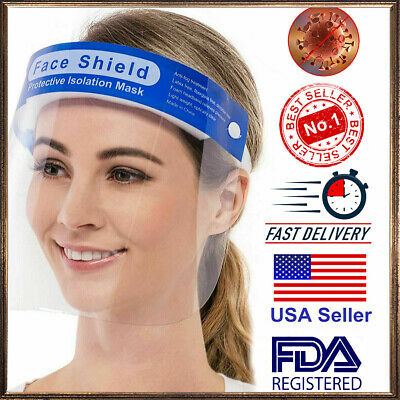 USA-Safety Full Face Shield Reusable Washable Protection Cover Face Mask Helmet