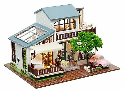 Rylai 3D Puzzles Wooden Handmade Miniature Dollhouse DIY Kit w// Light-Romance Europe Series Dollhouses Accessories Dolls Houses with Furniture /& LED /& Music Box Best Xmas Gift for Women and Girls