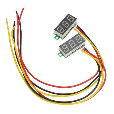 LED DC 0-100V Voltmeter Voltage Volt 3-Digital Display Panel Meter/3 Wires ftdd