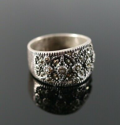 Square Clear CZ Tension Facet Wedding Ring .925 Sterling Silver Band Sizes 6-10