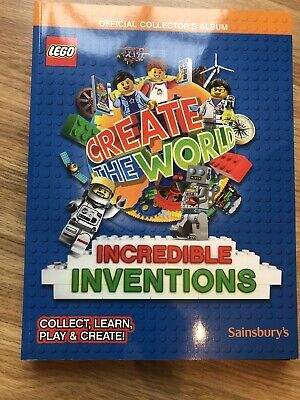 The World OFFICIAL collectors STICKERS Sainsbury/'s cards 5 x LEGO packs