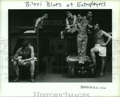 1987 Press Photo Cast Of Biloxi Blues A Presentation Of