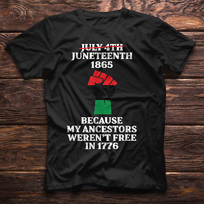 Womens Happy Juneteenth Day T-Shirt Short Sleeve Crew Neck Novelty Casual Top