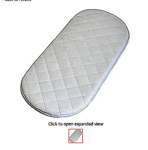 Rainbow Inspire Baby Moses Basket/Pram Oval Shaped Mattresses Quilted Soft