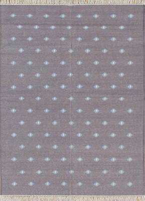 Jaipur Rugs Flat Weaves Smoked Oyster/White 3X5 Feet Cotton Modern Dots Area Rug