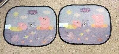 2 x Peppa Pig Kids/Children/Boys/Girls Car Window UV Protection Sun Visor Shades