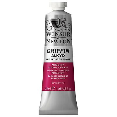 Winsor & Newton Griffin 37ml Alkyd Fast Drying Oil Colour Tube - Permanent Al...