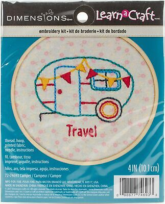 Dimensions Embroidery Kit with Hoop: Crewel: Camper, Various, One