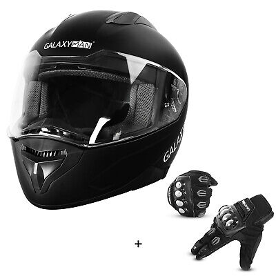 Galaxyman Adult Compact Full Face Motorcycle Street Bike Helmet - DOT Approved