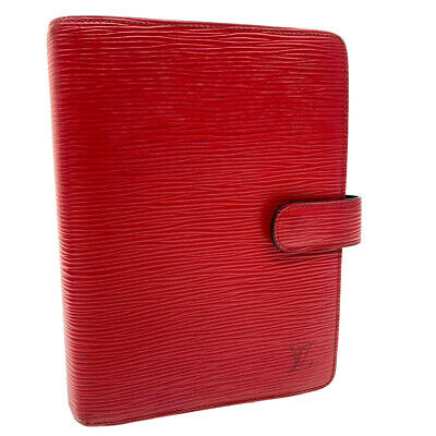 LOUIS VUITTON Epi Agenda MM Day Planner Cover Red R20047 LV Auth ar2607