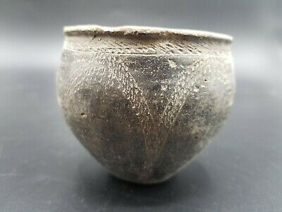 Archaic Blackware Bowl Circa 2000Bc Professionally Appraised With Certificate