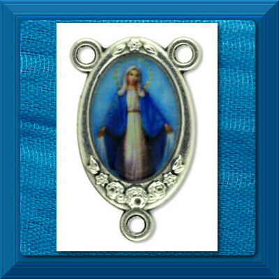 Rosary Part ❤️ Centerpiece Center OUR LADY Of The MIRACULOUS MEDAL Color ❤️Italy